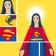 Poster de la statuette Super Marie